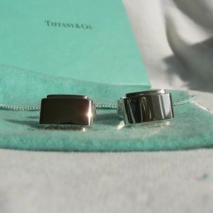 """Tiffany & Co. Silver """"Metropolis"""" Cuff Links"""